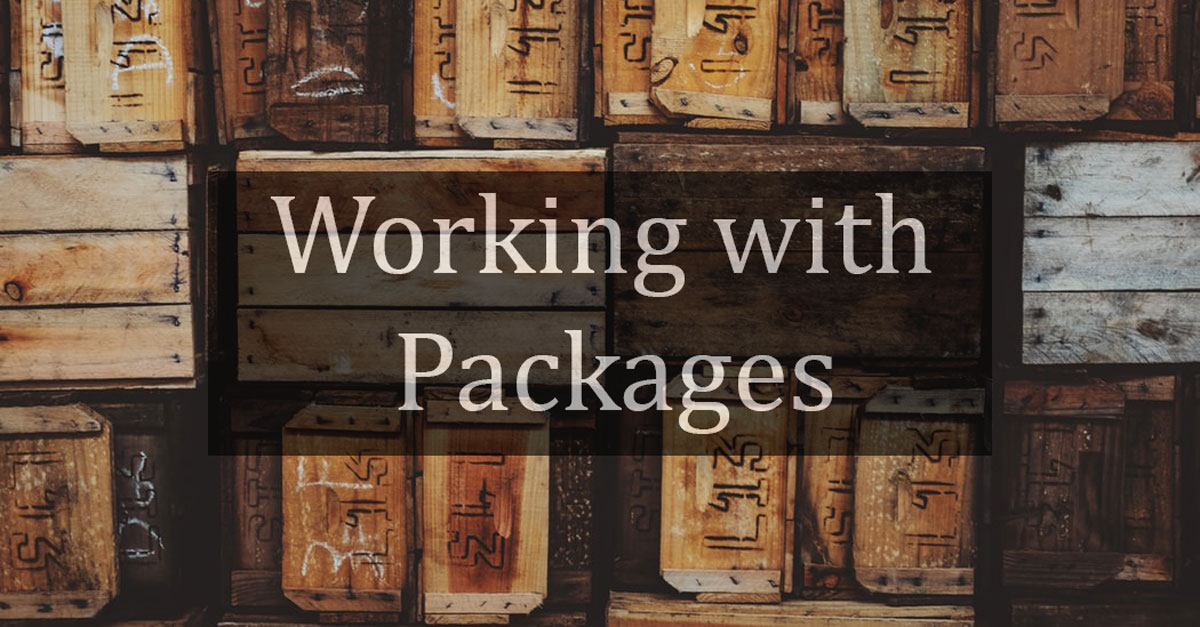 Working with Packages